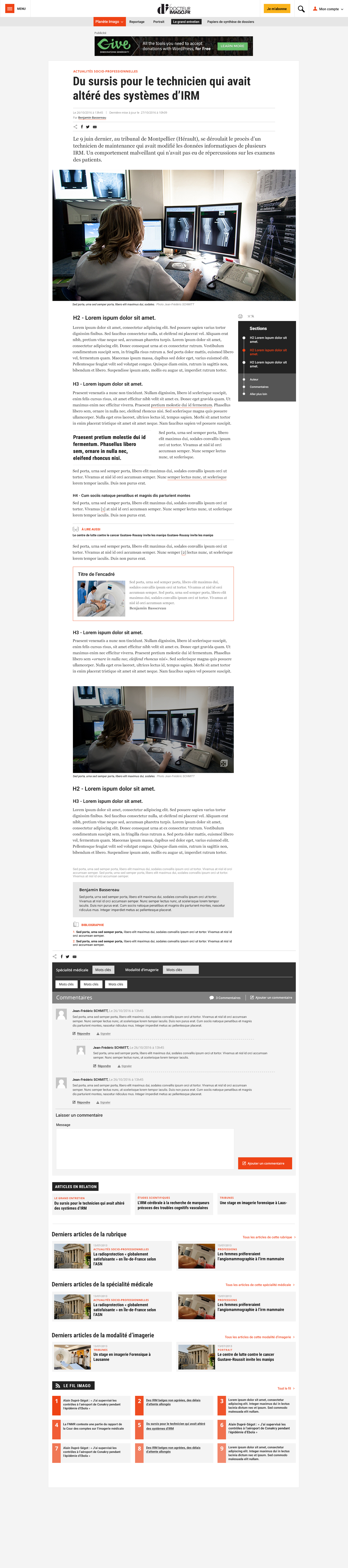 Pade article du site internet Dr Imago - Studio EVOL