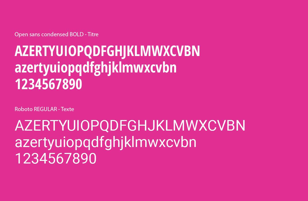 BNC-Charte Graphique typographies