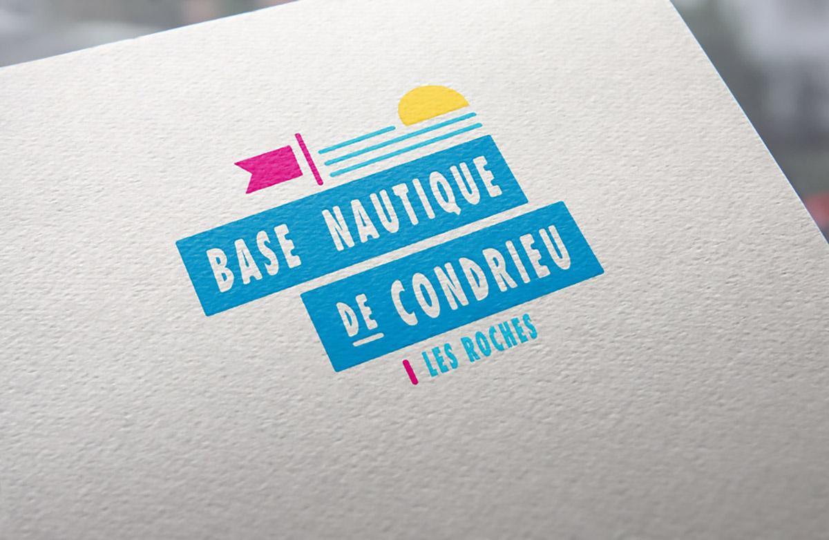 Logo de la base nautique de Condrieu Les Roches