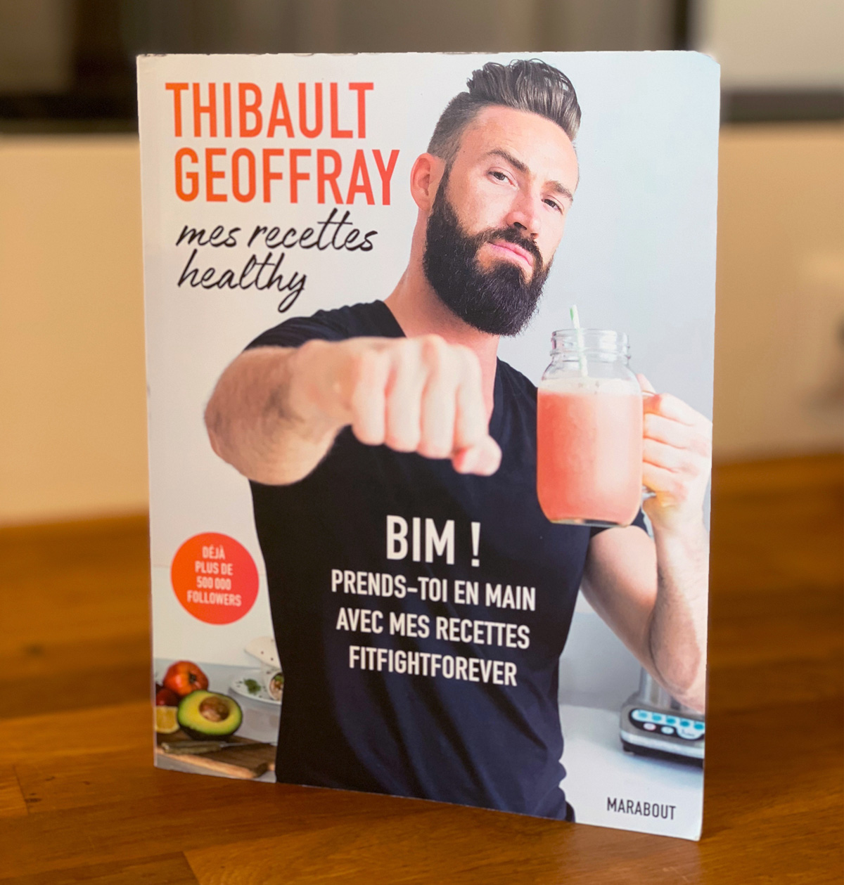 Couverture du livre Mes recettes healthy de Thibault Geoffray
