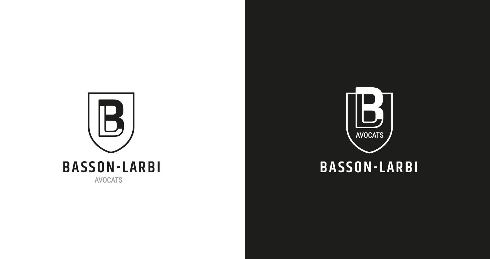 Declinaisons du logo du cabinet d'avocats Basson-Larbi Avocats - Studio-EVOL